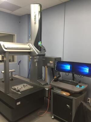 PCI's coordinate measuring machine measures geometrical characteristics of plastic parts.