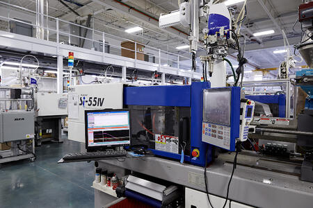 Technology and scientific molding-focused machines in the Plastic Components Inc facility