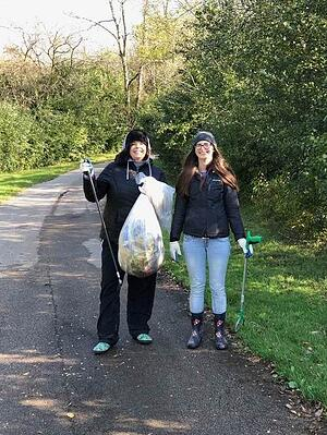 PCI employees participating in Milwaukee Riverkeeper river cleanup