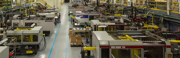 Inside the manufacturing facility of Syracuse Plastics of North Carolina, Inc.