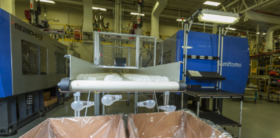 Plastic parts produced in interior facility of Syracuse Plastics of North Carolina Inc.